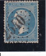 Yvert 22   Oblitération Morlanne 2540 Beau Cachet Indice 13 (Basse Pyrénnées  64    ) - 1862 Napoléon III