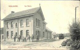 Verlaine - La Gare (animée Tram Tramway Edit François Gabriel 1908....RARE Prix Fixe Au Plus Rapide) - Verlaine