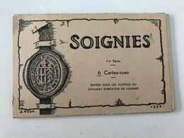 Pochette De 6 Cartes Postales Anciennes SOIGNIES 1ère Série éditées Sous Les Auspices Du Syndicat D'initiative - Soignies