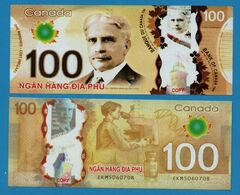 HELL BANKNOTE: VIETNAM ( CANADA 100 DOLLARS ) LOT 5 BILLETS UNC - Canada