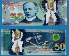 HELL BANKNOTE: VIETNAM ( CANADA 50 DOLLARS ) LOT 5 BILLETS UNC - Canada