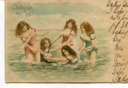 BELGIUM - Ostende - Artcard Of Girls Bathing - Undivided Rear - Oostende