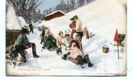 SWITZERLAND - Sport D'hiver Concours De Luge Pour Dames 1911 - Postales