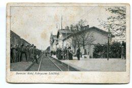 POLAND - Dworzec Kolej Fabryxzno Lodzkief - Polen