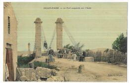 Salles D' Aude Le Pont Suspendu Sur L' Aude - France