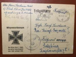 III. Reich, Feldpost Karte, München - Salzburg - Briefe U. Dokumente