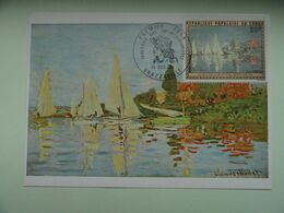 CARTE MAXIMUM CARD  REGATTA AT ARGENTEUIL BY CLAUDE MONET CONGO - Impressionisme