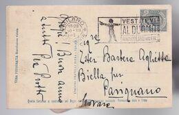 Annullo A Targhetta - Vestitevi Al Duomo Venezia Milano Trieste - Su Cartolina Ed. Diena - Milano Per Biella Ex Novara - Poststempel