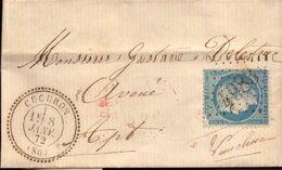 Lettre, Vaucluse, Cucuron, Gustave Delestrac Avoué Par Cadenet Pour Apt, 1872        (bon Etat) - 1849-1876: Klassik