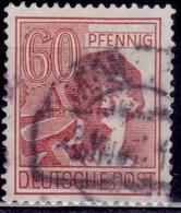 Germany 1947-48, Allied Occupation, Laborer, 60pf, Sc#571, Used - Gemeinschaftsausgaben