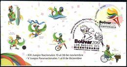 Colombia 2019 SPD Bolívar, Los Juegos Del Bicentenario. Antorcha Estilizada, Colores De Banderas - Kolumbien