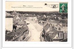 RUE : Panorama, Passage De L'aviateur Rene Caudron Au-dessus De La Ville - Tres Bon état - Rue