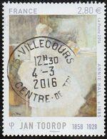 """France Oblitération Cachet à Date N° 5033 - Peinture De Jan Toorop 1858 - 1928 """" Annie Hall """" - 2010-.. Matasellados"""