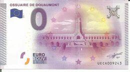 Billet Touristique Souvenir 0 Euro - Douaumont - EURO