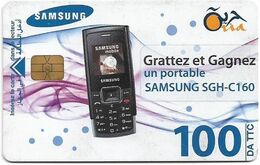 Algeria - Oria - Samsung SGH-C160, Chip Incard 04, 2008, 100AD, Used - Algeria