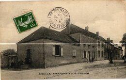 87 ..ARNAC LA POSTE .. LES ECOLES  . 1908. (Trait Blanc  Pas Sur L'original ) - Bessines Sur Gartempe