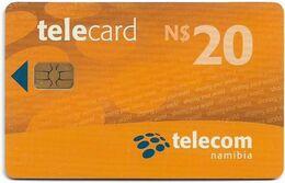 Namibia - Telecom Namibia - Sharing Your World - Orange, Chip Axalto 02, (Black Cn. At Reverse), 2010, 20$, Used - Namibie