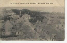 Port Louis La Rue De La Marine L'ile Des Souris Et Au Fond Gavres - Port Louis