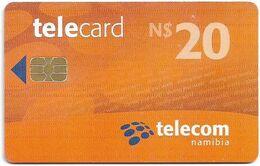 Namibia - Telecom Namibia - Sharing Your World - Orange, Chip Axalto 03, (Black Cn. At Reverse), 2010, 20$, Used - Namibie