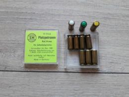BOITE DE 10 CARTOUCHES POUR PISTOLET D'ALARME CAL. 8MM A BLANC ET GAZ - Armes Neutralisées