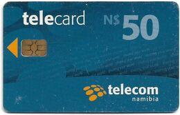 Namibia - Telecom Namibia - Sharing Your World - Blue, Chip Axalto 02, (Black Cn. At Reverse), 2010, 50$, Used - Namibie