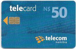 Namibia - Telecom Namibia - Sharing Your World - Blue, Chip Axalto 03, (Black Cn. At Reverse), 2010, 50$, Used - Namibie