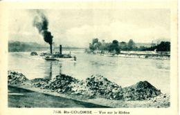 N°3895 R -cpa Ste Colombe -bateau à Vapeur Sur Le Rhône- - Altri
