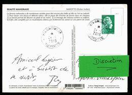 976 MAYOTTE Marianne De Carnet SAGEM Lettre Verte Au Tarif équivalent 0,88€ Sur Carte Postale BOUENI AP 24-1-2019 2 Scan - Andere