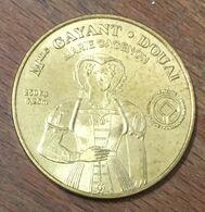 59 DOUAI Mme GAYANT MÉDAILLE SOUVENIR MONNAIE DE PARIS 2010 JETON TOURISTIQUE MEDALS COINS TOKENS - Monnaie De Paris