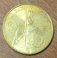 59 DOUAI M GAYANT MÉDAILLE SOUVENIR MONNAIE DE PARIS 2010 JETON TOURISTIQUE MEDALS COINS TOKENS - Monnaie De Paris