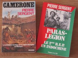 MILITARIA / 2 TITRES Par Pierre SERGENT - Boeken, Tijdschriften, Stripverhalen