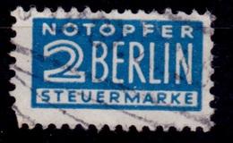 "Germany 1948, ""Notopher"" Berlin Steuremarke/Tax Stamp, 2pf, Sc#RA2, Used - Bizone"