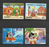 Disney Set Antigua & Barbuda 1993 EuroDisney Open MNH - Disney