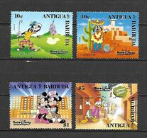 Disney Set Antigua & Barbuda 1992 EuroDisney Open MNH - Disney