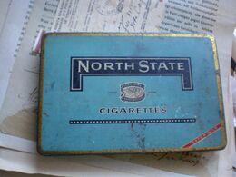Old Tin Box North State Cigarettes Superfine Ready Rolled - Tabaksdozen (leeg)