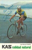 CARTE CYCLISME JOSE MANUEL FUENTE TEAM KAS 1973 - Ciclismo