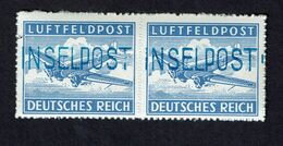 1944 Reich Inselpost Feldpost Luftfeldpost Leros M# 11B MNH 2 Stamps Pair - Occupation 1938-45