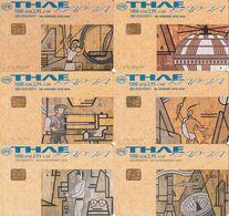 GREECE - Set Of 6 Cards, Ceramic Painting/Valsamakis 6, 04-05/01, Used - Pittura