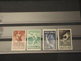 POLONIA - 1947 LAVORO 4 VALORI - NUOVI(++) - Unused Stamps
