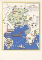 Friuli Venezia Giulia - Mappa - Illustrazione -1953 - Mapas