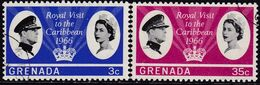 GRENADA 1966 SG 229-30 Compl.set Used Royal Visit - Grenada (...-1974)
