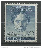 Deutschland Berlin West Germany Mi.87 MNH / ** 1952 Beethoven - Nuevos