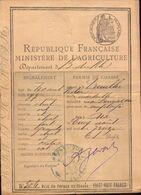 Permis De Chasse, Bouches Du Rhone, Fait A Aix 1913, Mairie Des Pennes Mirabeaux    (etat Voir Photos) - Other