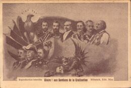 Militaire, Patriotique, Gloire ! Aux Gardiens De La Civilisation, Carte Double   (bon Etat) - Heimat