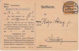 DR-Infla - 5 Mrd. Korbdeckel Güterbenachrichtigung Duisburg (Hamborn-Neumühl) N. - Deutschland