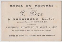 Carte Commerciale  Hotel Du Progrès X Roux à Nasbinals  (48) Refait à Neuf - Sports & Tourism