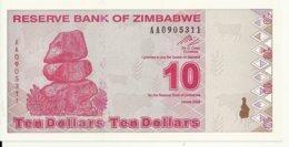 ZIMBABWE 10 DOLLARS 2009 UNC P 94 - Zimbabwe