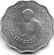 *Bhutan 10 Chetrums 1975 Km 43 Unc/ms63 - Bhutan