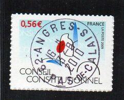 2009 Autoadhésifs  YV N° 337A   Conseil Constitutionnel  TYPE 2  Dutirage Oblitéré (VOIRE SCAN) - Unused Stamps
