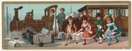 BELLE CHROMO Chocolat SUCHARD   +/- 1891   Grand Format    Serie 25 Train En Chocolat  Victorian Trade Card - Suchard